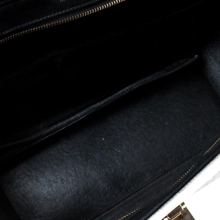 Celine Tri Color Leather Medium Trapeze Bag For Sale 5