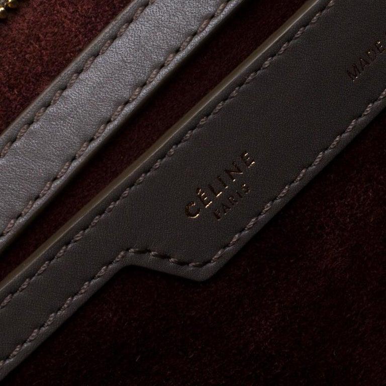 Celine Tri Color Leather Medium Trapeze Bag For Sale 7