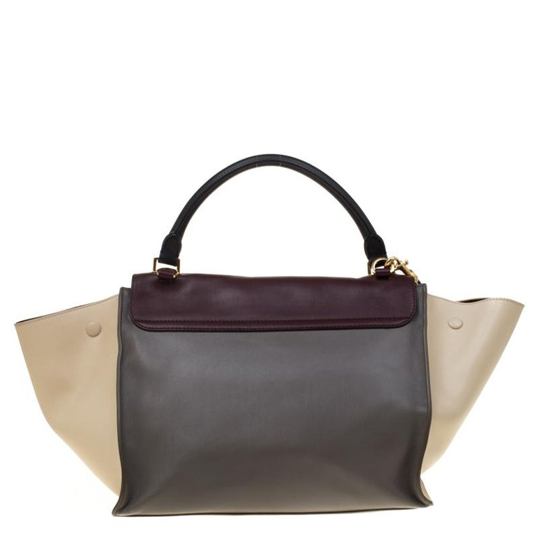 In every stride, swing, and twirl, your audience will gasp in admiration at the beautiful sight of this Celine bag. Crafted from leather in Italy, the bag has a style that will catch glances from a mile. It is designed with the signature flappy