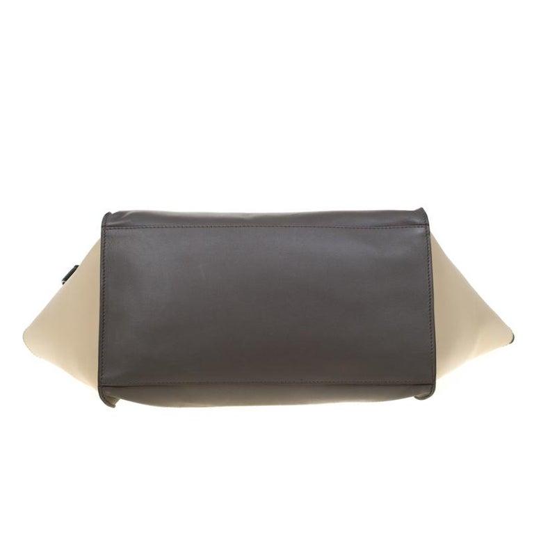 Women's Celine Tri Color Leather Medium Trapeze Bag For Sale