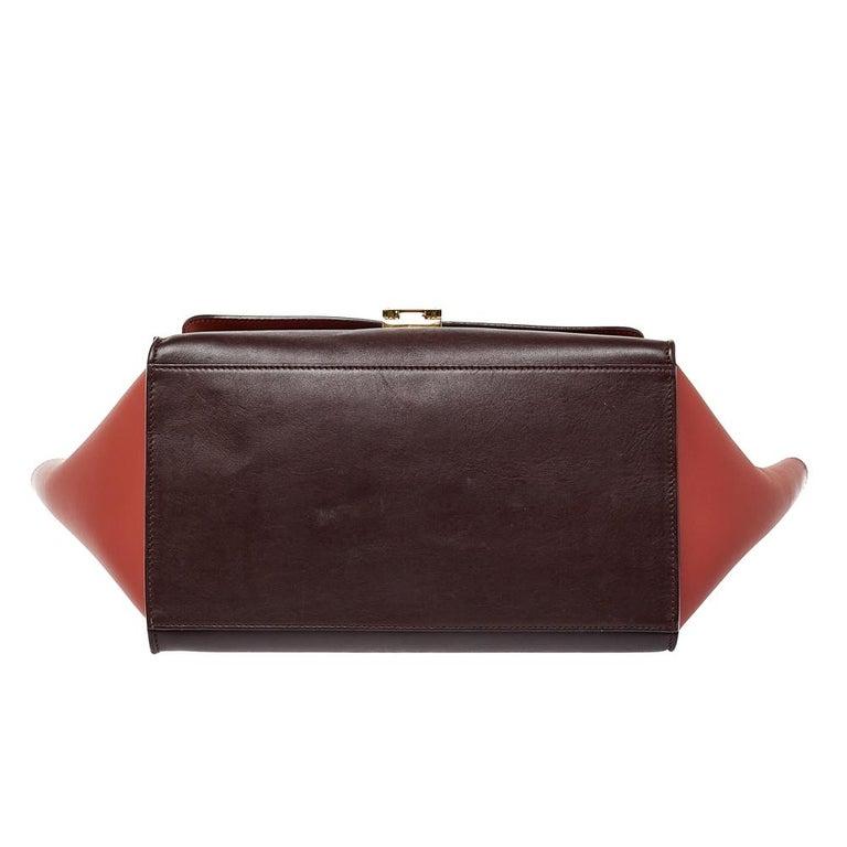 Women's Celine Tri Color Leather Medium Trapeze Top Handle Bag For Sale