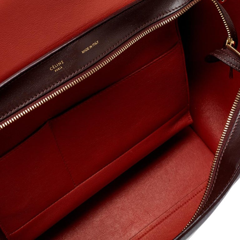 Celine Tri Color Leather Medium Trapeze Top Handle Bag For Sale 2