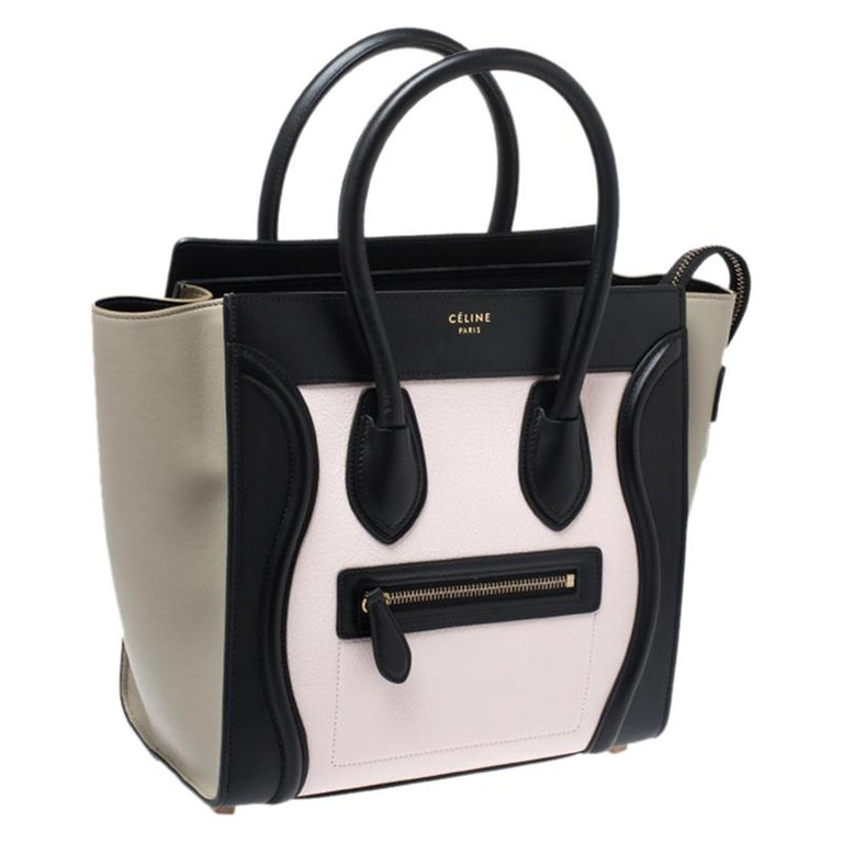 Celine Tri Color Leather Micro Luggage Tote 5