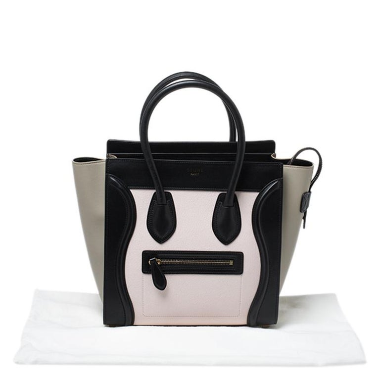Celine Tri Color Leather Micro Luggage Tote 7