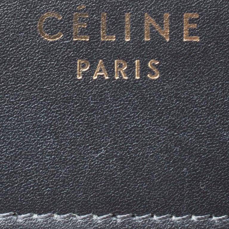 Celine Tri Color Leather Micro Luggage Tote In Excellent Condition In Dubai, Al Qouz 2