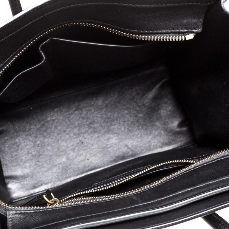 Celine Tri Color Leather Micro Luggage Tote For Sale 1