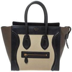 Celine Tri Color Leather Micro Luggage Tote