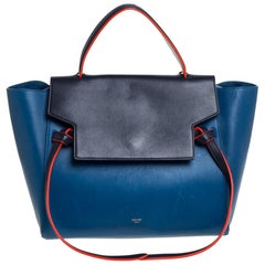 Celine Tri Color Leather Mini Belt Top Handle Bag