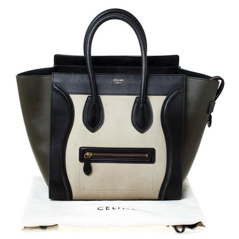 Celine Tri Color Leather Mini Luggage Tote For Sale 7