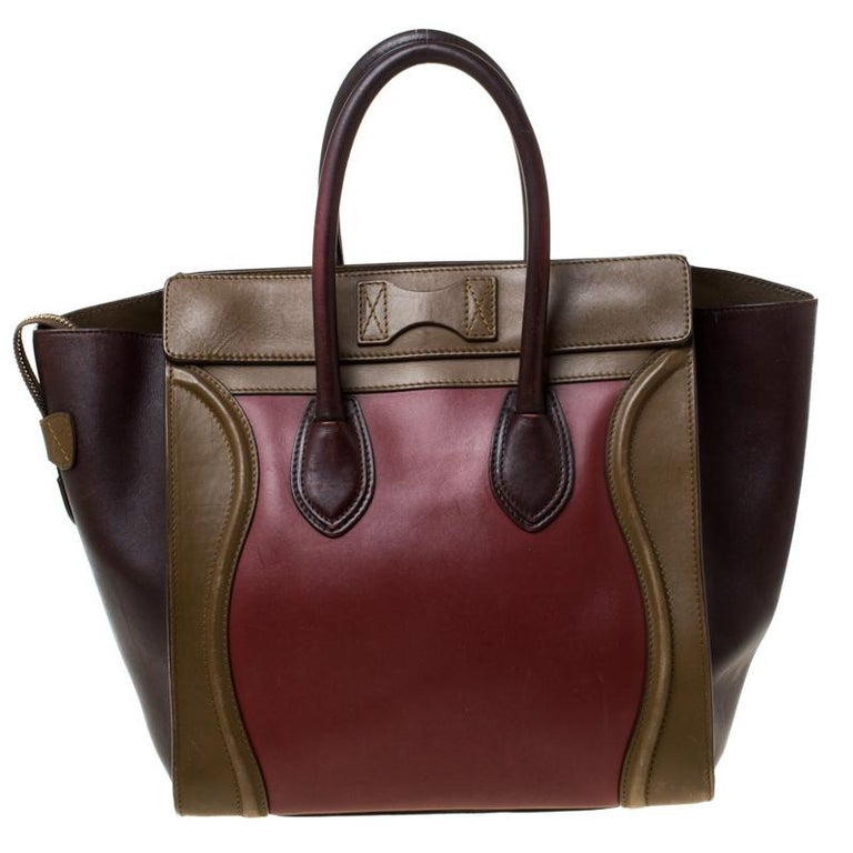 The Mini Luggage tote from Celine is one of the most popular handbags in the world. This tote is crafted from leather with flappy sides and designed in three colours. It comes with rolled top handles and a front zip pocket. The bag is equipped with