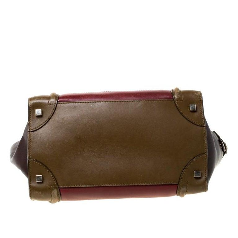Women's Celine Tri Color Leather Mini Luggage Tote For Sale