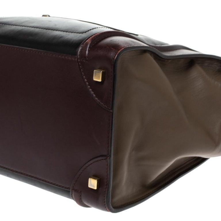 Celine Tri Color Leather Mini Luggage Tote For Sale 1