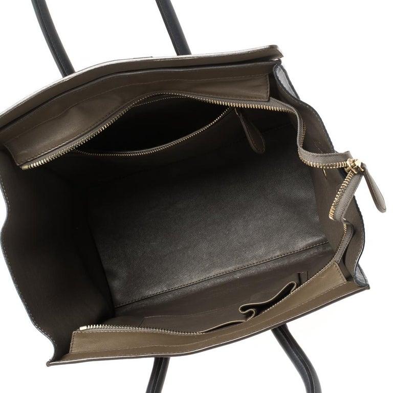 Celine Tri Color Leather Mini Luggage Tote For Sale 5
