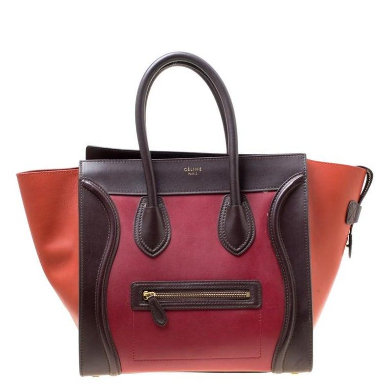 ebe302420 Celine Tri Color Leather Mini Luggage Tote For Sale