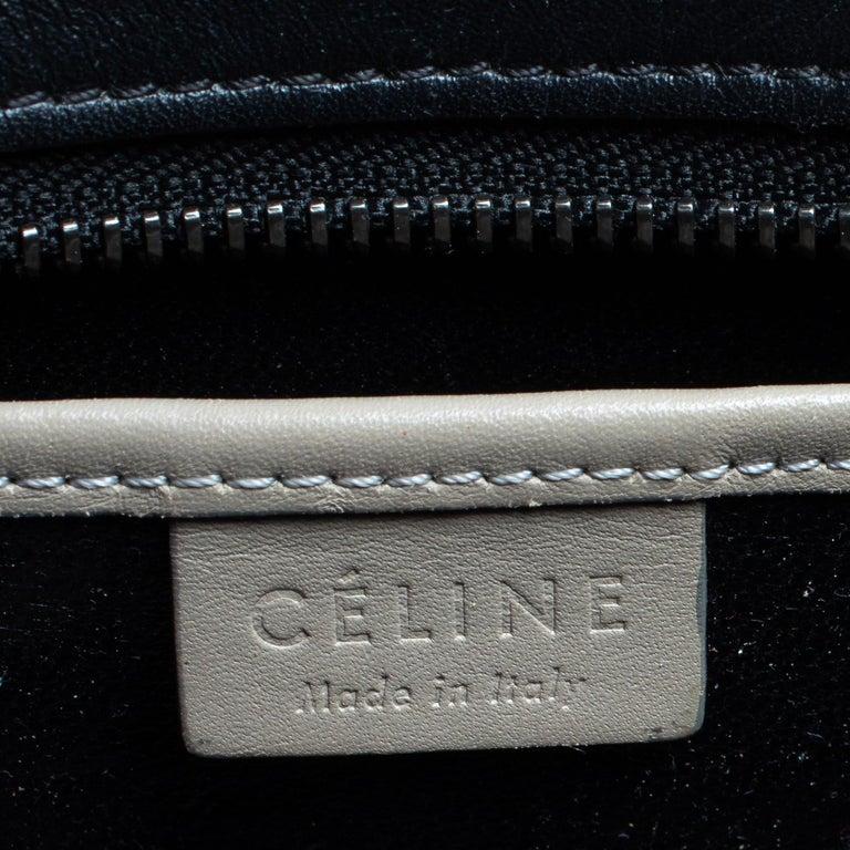 Celine Tri Color Leather Nano Luggage Tote For Sale 8