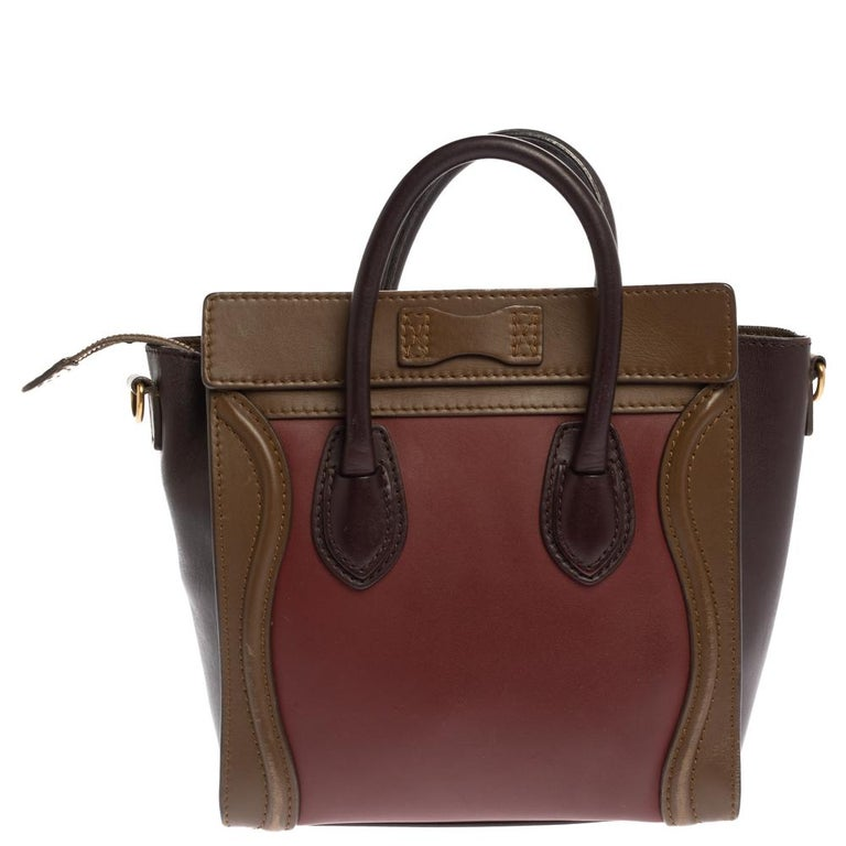 The Nano Luggage tote from Celine is one of the most popular handbags in the world. This tote is crafted from leather and designed in lovely shades. It comes with rolled top handles, a detachable shoulder strap, and a front zip pocket. The bag is