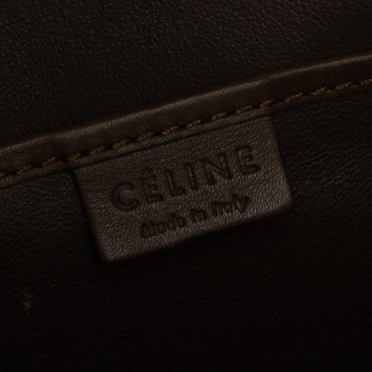 Celine Tri Color Leather Nano Luggage Tote For Sale 1