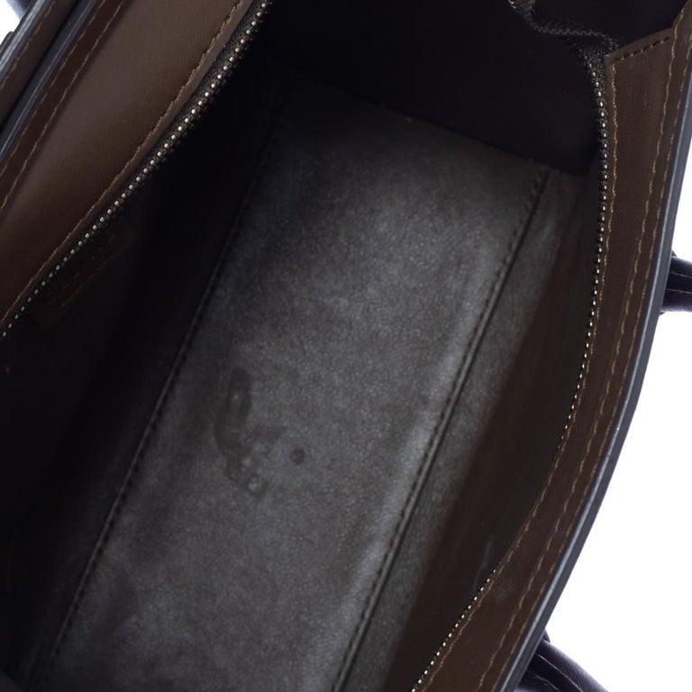 Celine Tri Color Leather Nano Luggage Tote For Sale 3