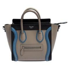 Celine Tri Color Leather Nano Luggage Tote