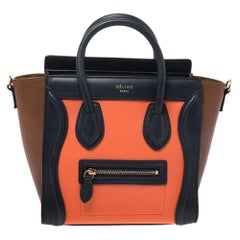 Celine Tri Color Leather Nano Luggage Tote