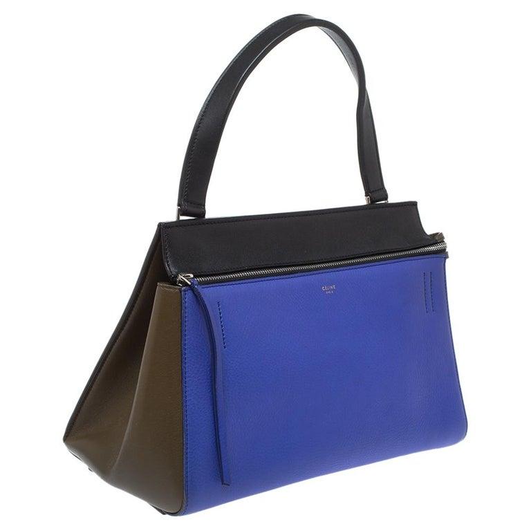 Purple Céline Tri Color Leather Small Edge Bag For Sale
