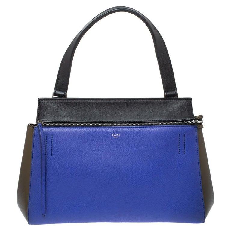 Céline Tri Color Leather Small Edge Bag For Sale 2
