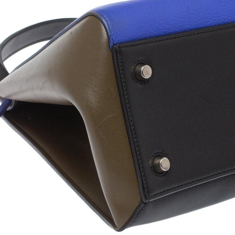 Céline Tri Color Leather Small Edge Bag For Sale 3