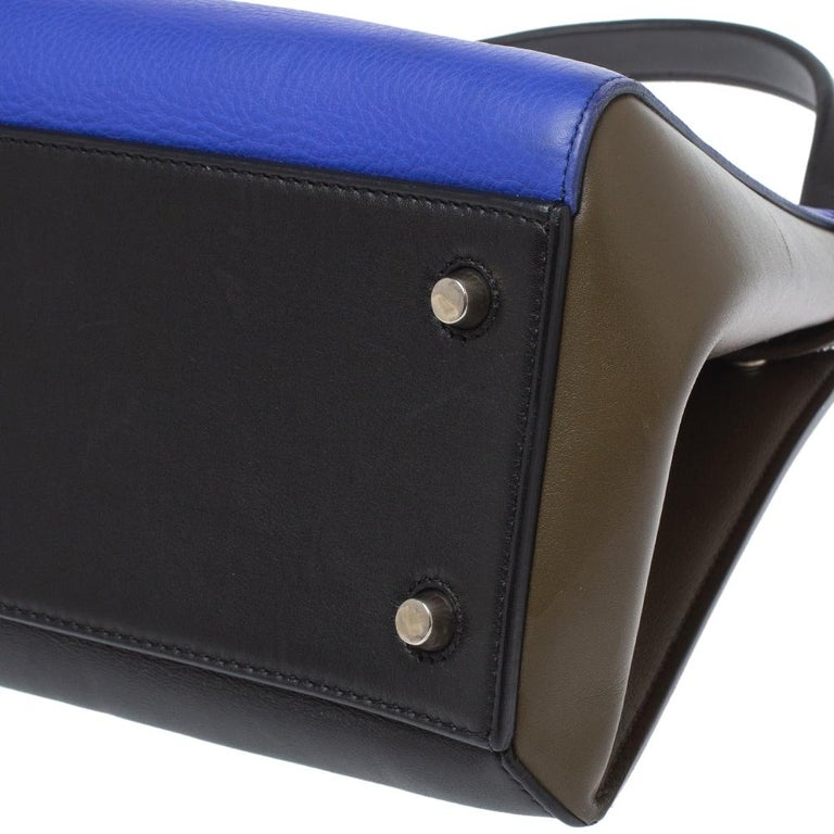 Céline Tri Color Leather Small Edge Bag For Sale 4