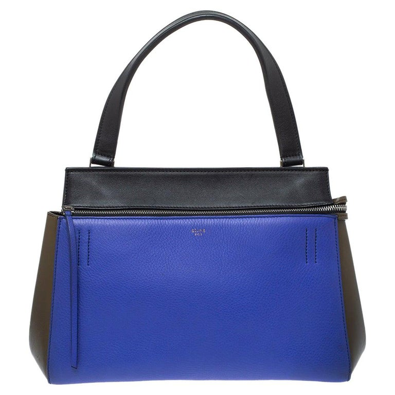 Céline Tri Color Leather Small Edge Bag For Sale