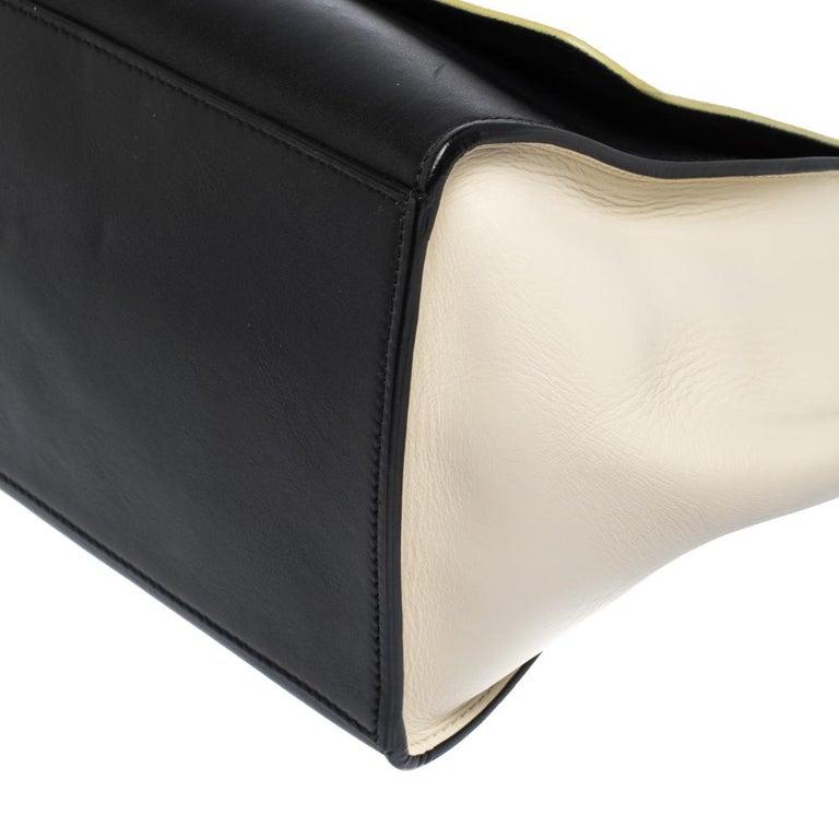 Celine Tri Color Nubuck and Leather Medium Trapeze Bag For Sale 5