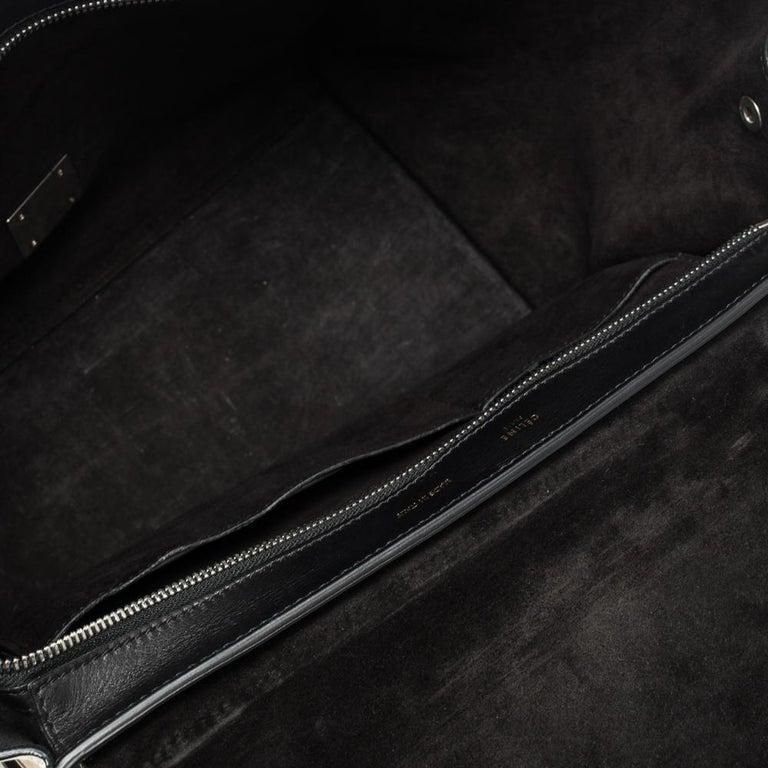 Celine Tri Color Nubuck and Leather Medium Trapeze Bag For Sale 8