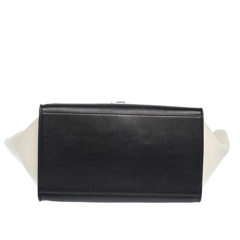 Women's Celine Tri Color Nubuck and Leather Medium Trapeze Bag For Sale