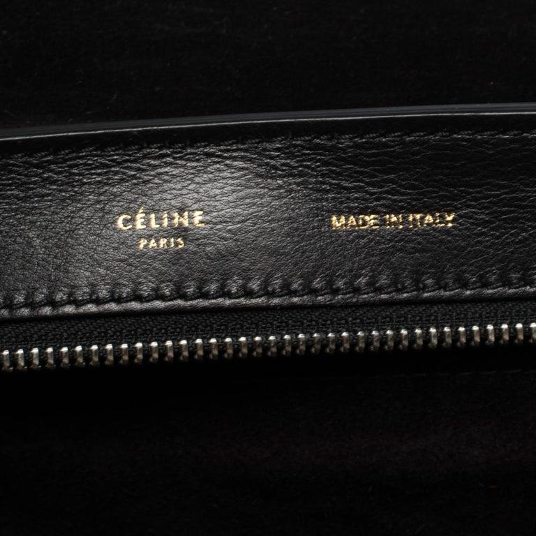 Celine Tri Color Nubuck and Leather Medium Trapeze Bag For Sale 1