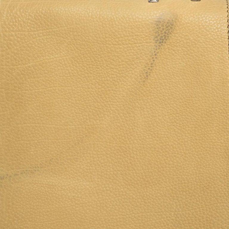 Celine Tri Color Nubuck and Leather Medium Trapeze Bag For Sale 3