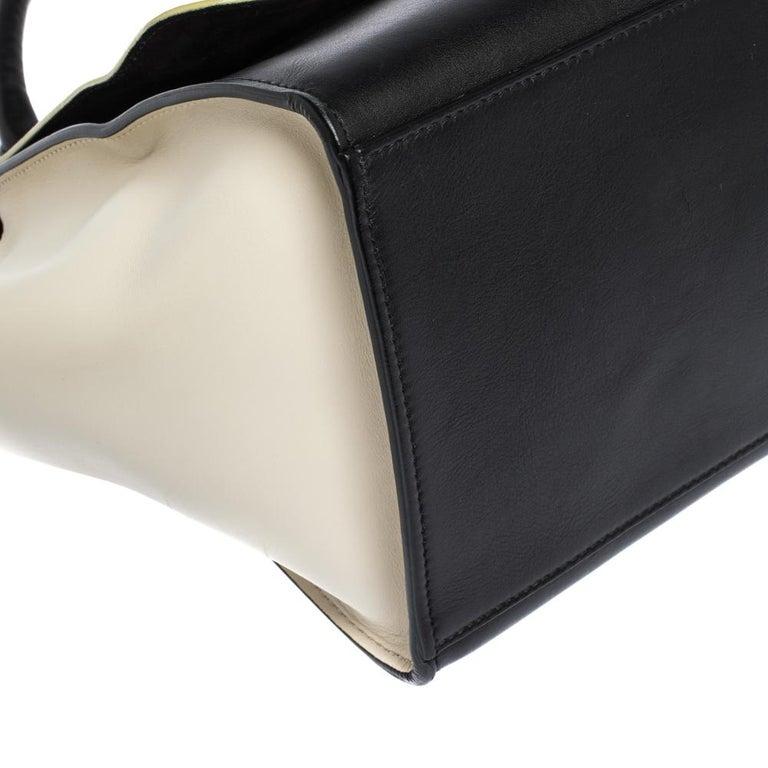 Celine Tri Color Nubuck and Leather Medium Trapeze Bag For Sale 4