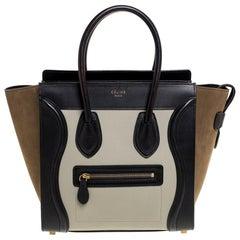 Celine Tri Color Nubuck and Leather Micro Luggage Tote