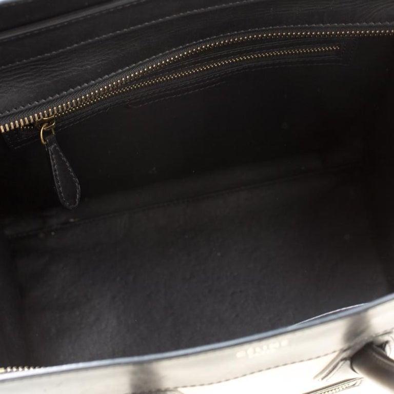 Celine Tri Color Nubuck and Leather Mini Luggage Tote For Sale 3