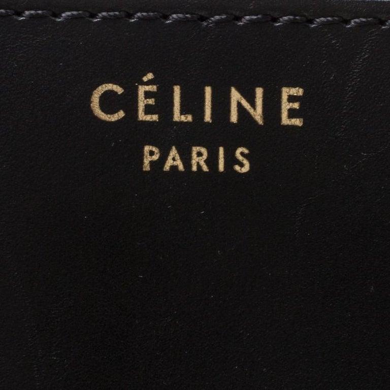 Celine Tri Color Nubuck and Leather Mini Luggage Tote For Sale 4