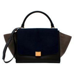 Celine Tri-Colour Calf Hair & Leather Trapeze Bag