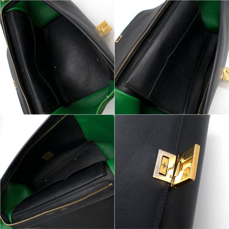 Celine Tri-Colour Suede & Leather Trapeze Bag 5