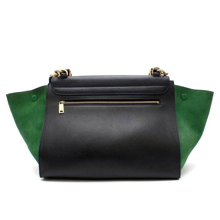 Black Celine Tri-Colour Suede & Leather Trapeze Bag