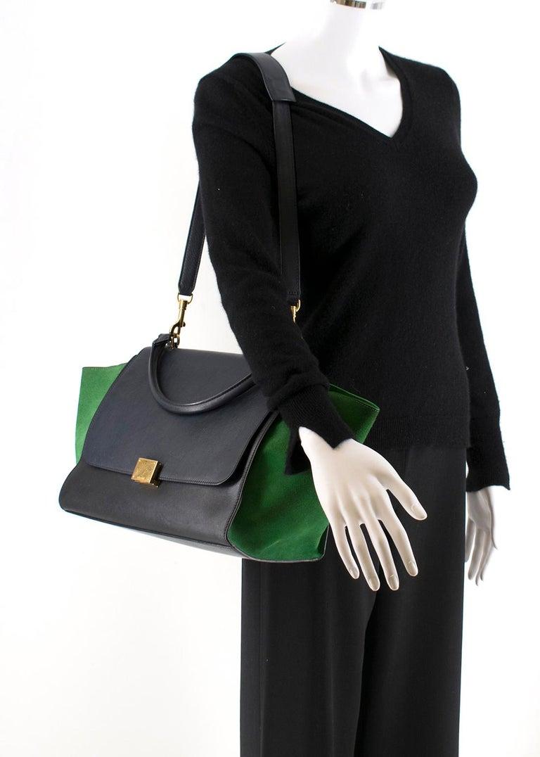 Women's or Men's Celine Tri-Colour Suede & Leather Trapeze Bag