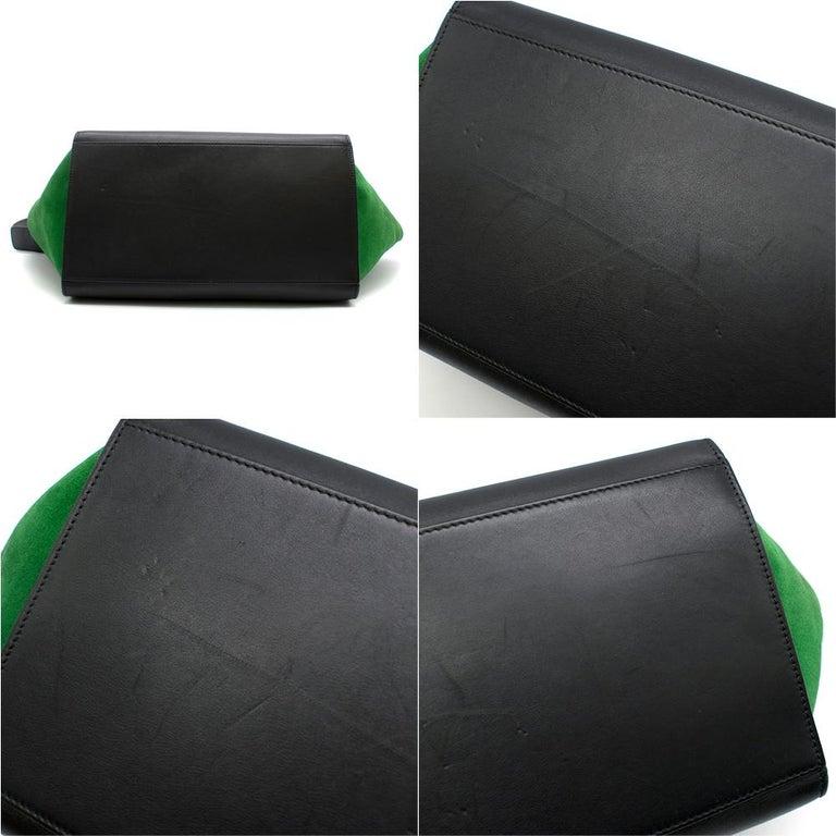 Celine Tri-Colour Suede & Leather Trapeze Bag 1