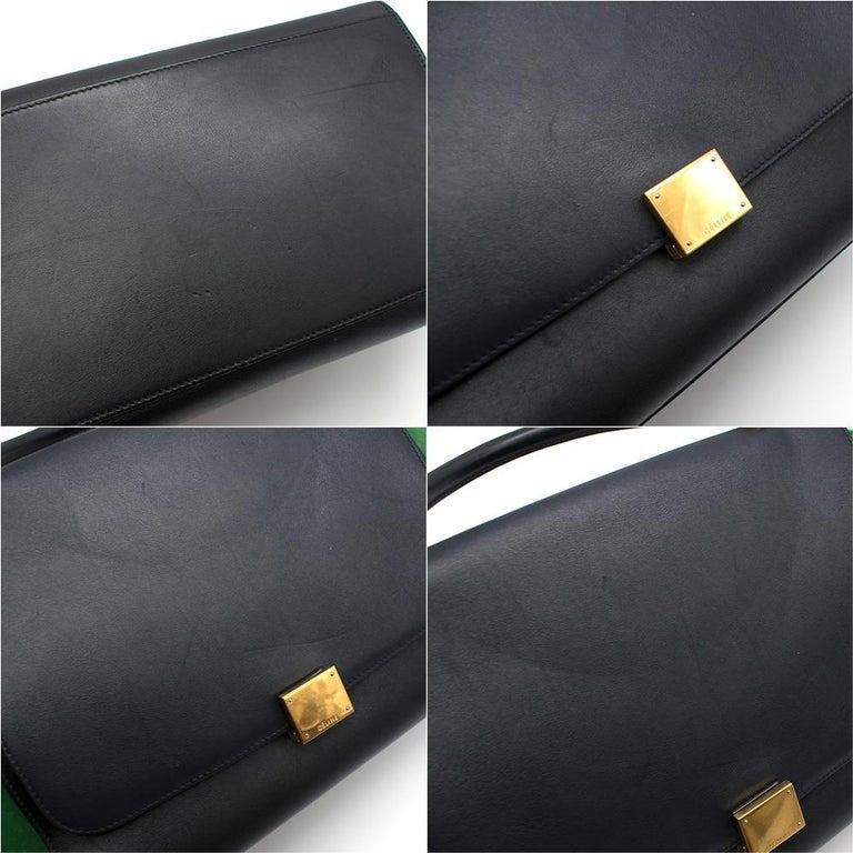 Celine Tri-Colour Suede & Leather Trapeze Bag 2
