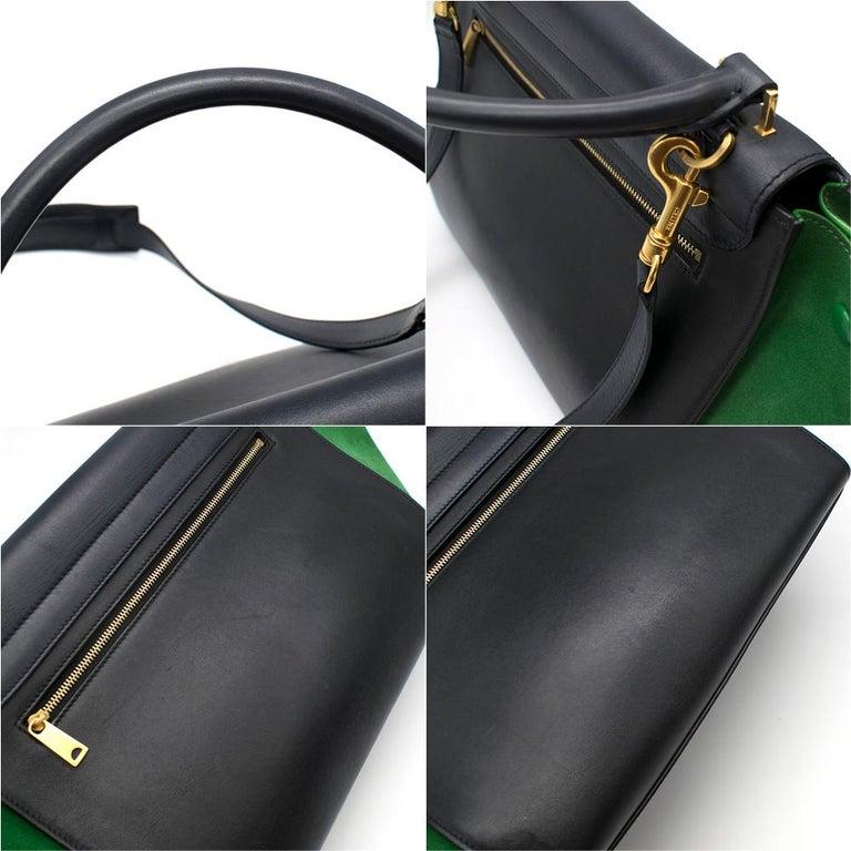 Celine Tri-Colour Suede & Leather Trapeze Bag 3