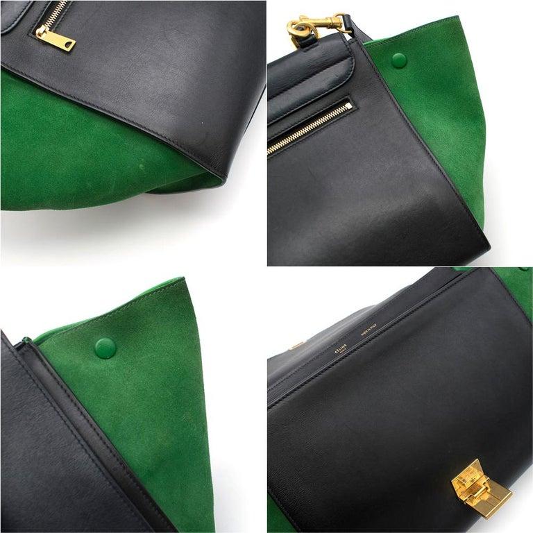 Celine Tri-Colour Suede & Leather Trapeze Bag 4