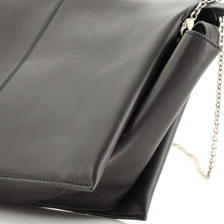 Celine Tri-Fold Clutch on Chain Smooth Leather For Sale 2