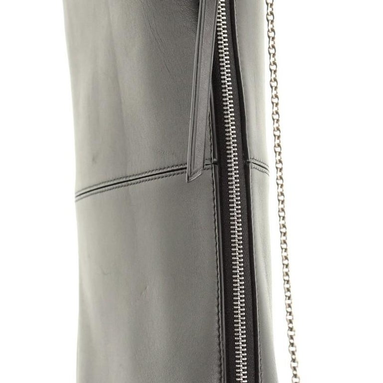 Celine Tri-Fold Clutch on Chain Smooth Leather For Sale 3