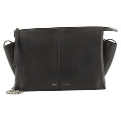 Celine Tri-Fold Clutch on Chain Smooth Leather