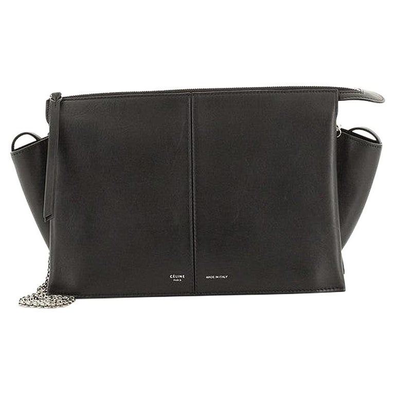 Celine Tri-Fold Clutch on Chain Smooth Leather For Sale